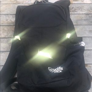 Wolffle Pack Skiers-Snowboarders Backpack -damaged